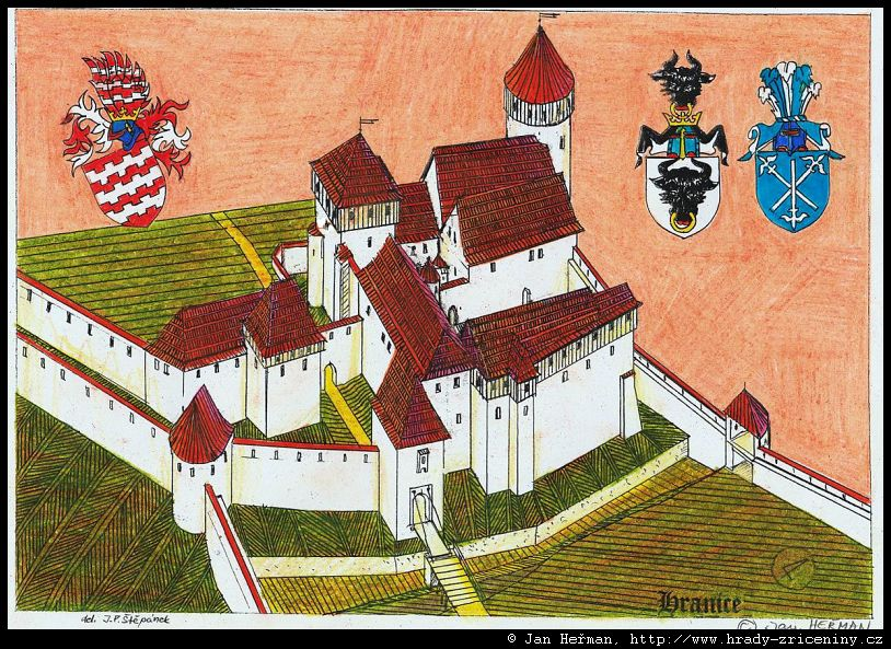 Kresby Jana Hermana Hranice Hrady Zriceniny Cz