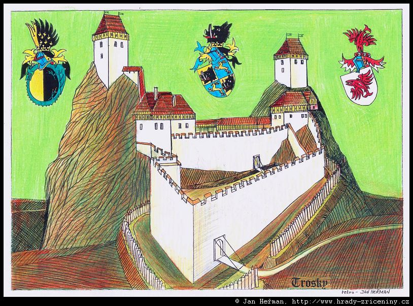 Kresby Jana Hermana Trosky Hrady Zriceniny Cz