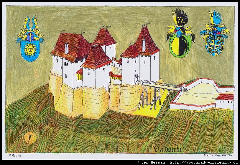 Kresby Jana Hermana Valdstejn Hrady Zriceniny Cz